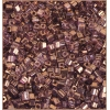 Square Beads 2.6x2.6mm Square Hole Golden Luster